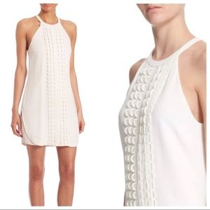 A.L.C. White Halter Style Dress w/ Loop Detailing